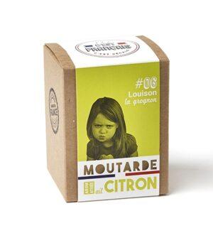 moutarde aromatisée ail citron
