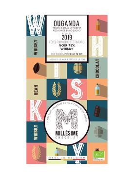 MILLESIME OUGANDA BIO* TABLETTE CHOCOLAT NOIR 76% - WHISKY-0