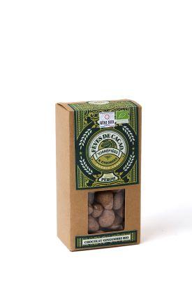 CACAOTINES CHOCOLAT-GINGEMBRE BIO* fèves de cacao* bio enrobées-0