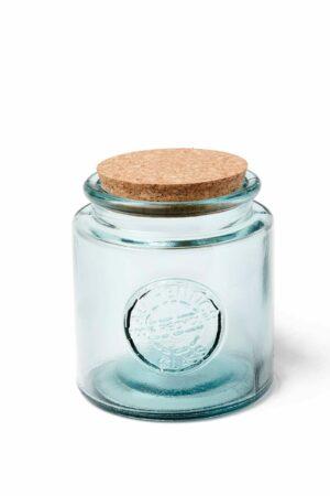 bonbonnière en verre recyclé et bouchon en liège