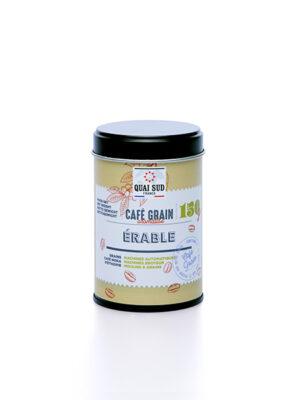 café en grain aromatisé à l'érable 150g boite pop Quai Sud