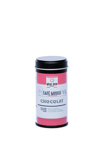 café chocolat moulu boite de 75g Quai Sud