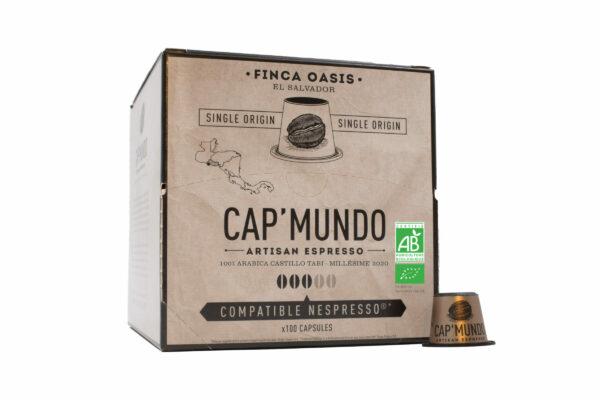 Café bio finca oasis cap mundo 100 capsules