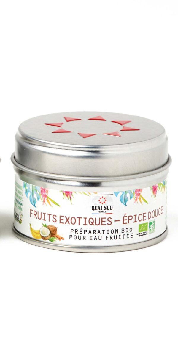 préparation BIO pour eau fruitée fruits exotiques epices douces Quai Sud