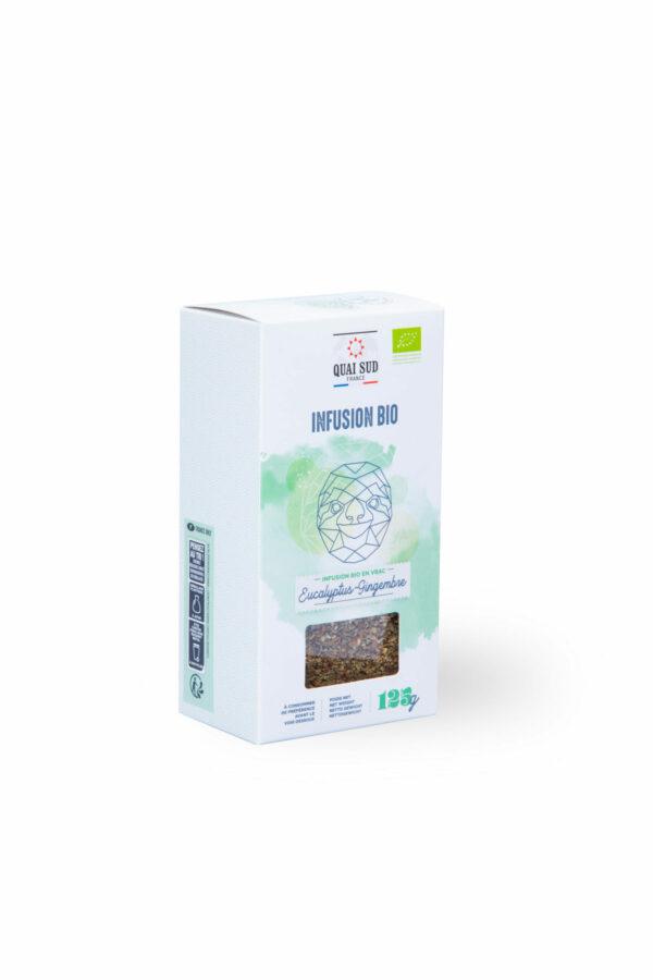 infusion BIO eucalytpus gingembre quai Sud boite carton