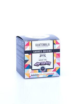 napolitains carres de chocolat noir du guatemala millesime quaisud