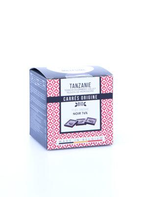 napolitains carres de chocolat noir bio de tanzanie millesime quaisud