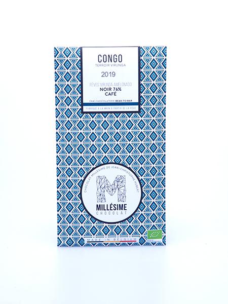 tablette de chocolat noir du congo au cafe millesime quai sud