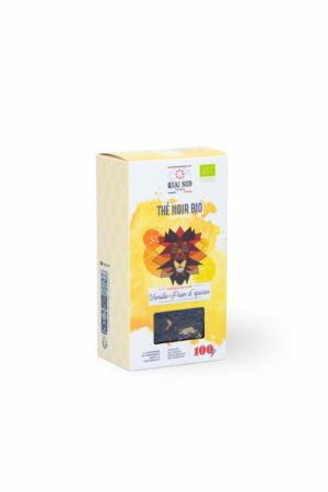 Thé noir BIO vanille te pain d'épices Quai Sud boite carton