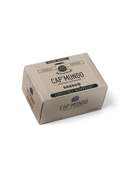 Coffee Cap Mundo Dark Ebony Capsules Nespresso Compatible