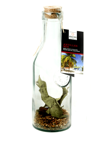 Mix for West Indies rum in a carafe on the south quay