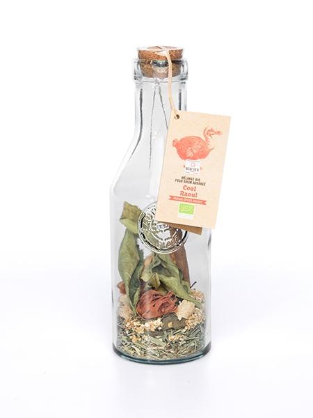 COOL RAOUL Mélange pour RHUM ARRANGE BIO ( ananas-épices douces) -CARAFE COCKTAIL verre recyclé 60 g-0