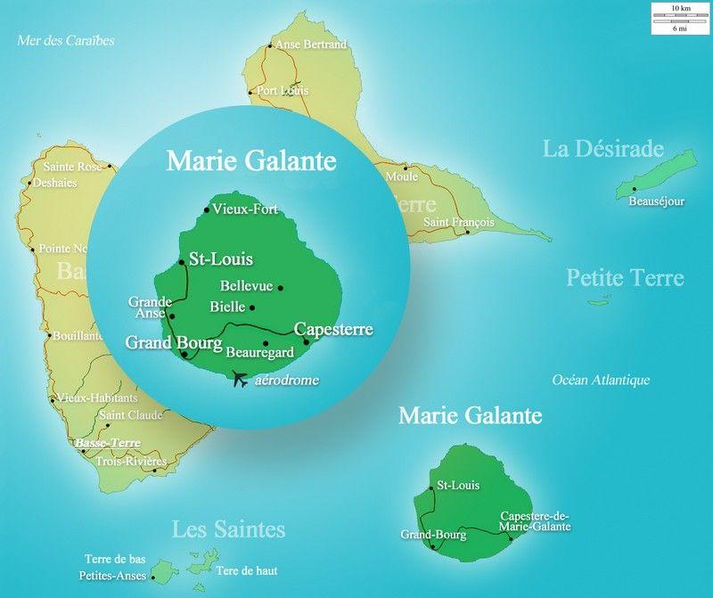 carte-marie-galante-archipel-guadeloupe Notre Rhum d'exception