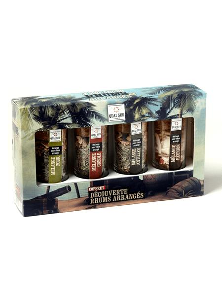Boxed set of arranged rum quai sud