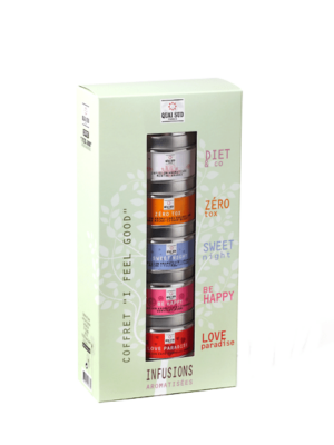 "Coffret infusions aromatisées ""I feel good"" Quai Sud"