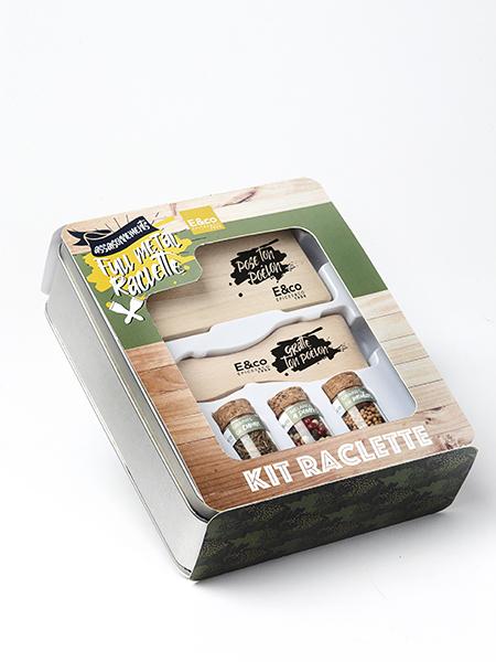 Full métal raclette coffret kir raclette Epices&co Quai Sud