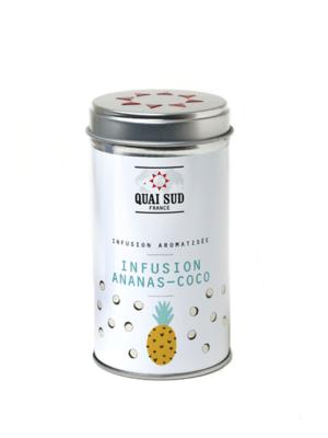 Infusion glacée aromatisée ananas-coco boite pop quai sud