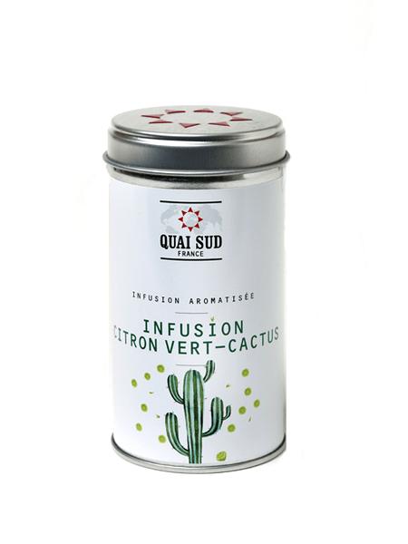 Infusion glacée aromatisée citron vert-cactus boite pop quai sud