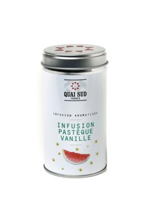 Infusion glacée aromatisée pastèque-vanille boite pop quai sud