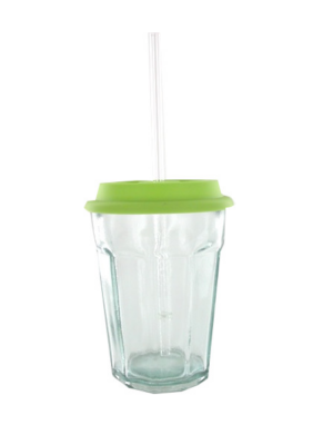 mason jar vide en verre avec couvercle vert quai sud