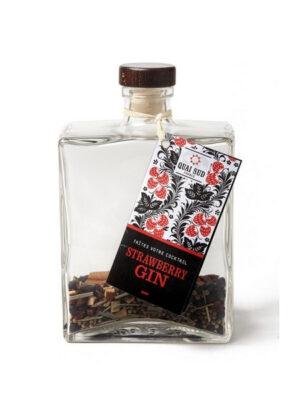 Mélange pour cocktail strawberry gin en carafe