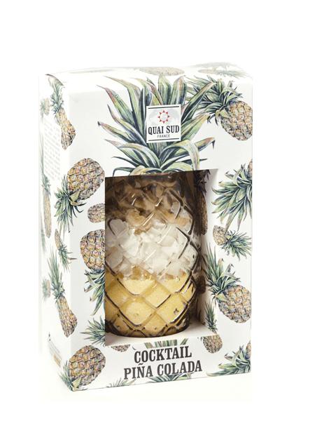 Mélange pour cocktail Piña Colada verre Ananas quai sud