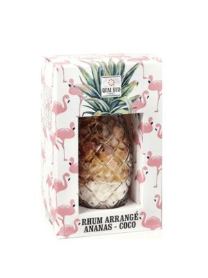 Mélange pour rhum arrangé Ananas - Coco verre Ananas quai sud