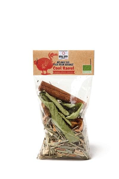 Cool Raoul mélange bio pour rhum arrangé ananas-épices douces
