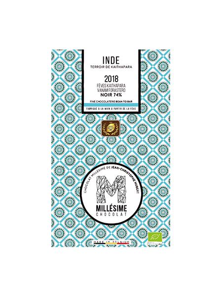 MILLESIME INDE BIO Tablette de chocolat noir bio 74%-0