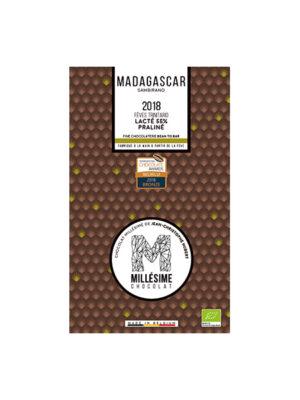 MILLESIME MADAGASCAR Bio-Milchschokolade Tafel 55% Praline Haselnüsse Mandeln-0