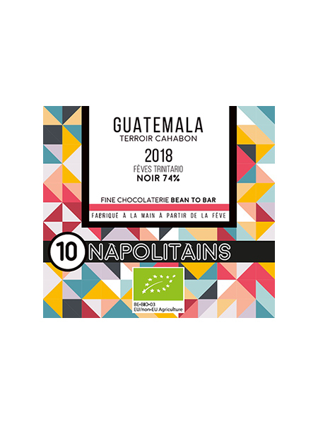 BOITE DE 10 NAPOLITAINS BIO* DU GUATEMALA NOIR 74%-0
