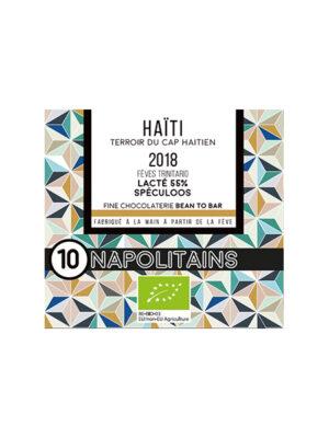 BOITE DE 10 NAPOLITAINS BIO* DE HAITI LAIT 55% SPECULOS-0