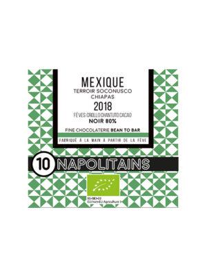 BOITE DE 10 NAPOLITAINS BIO* DU MEXIQUE NOIR 80%-0