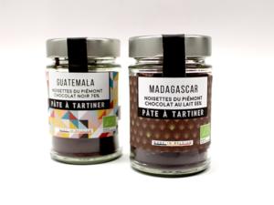 PATE A TARTINER BIO * NOISETTE DU PIEMONT & CHOCOLAT NOIR DU GUATEMALA - Pot 150 g-0