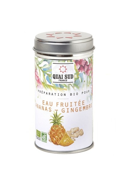 Organic preparation for Pineapple Ginger fruit water