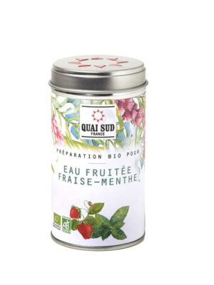 Organic preparation for Strawberry Mint fruit water