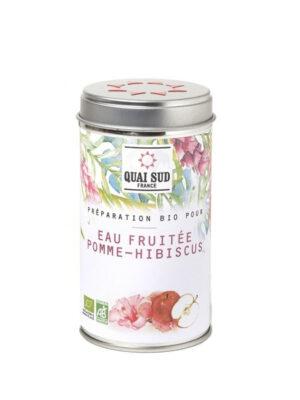 Préparation bio pour eau fruitée Pomme Hibiscus