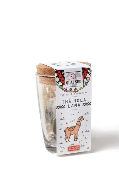 Hola Lama Black Tea Poppy flavored tea cup