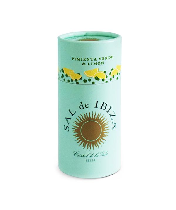 Sal de ibiza sel au poivre piment vert et citron boite carton