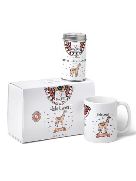 "Tea box ""Never without my llama""."