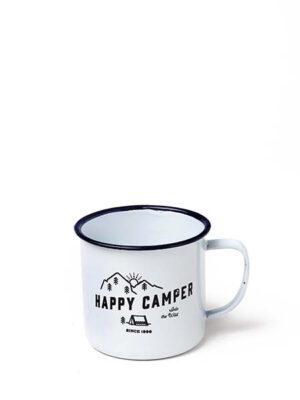 "Enamelled mug ""Happy Camper""-0"