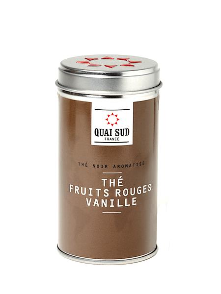 Thé noir Fruits rouges - Vanille Quai Sud