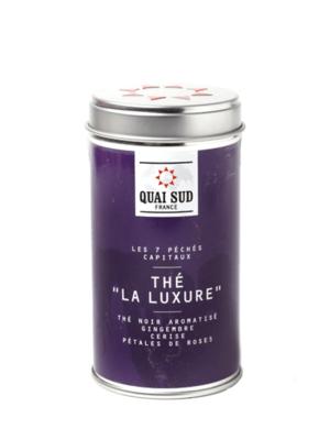 Thé noir La Luxure (cerise, gingembre, pétales de rose) Quai Sud