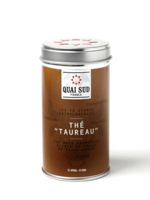 Taureau black tea (cocoa bean slivers, pear) Quai Sud