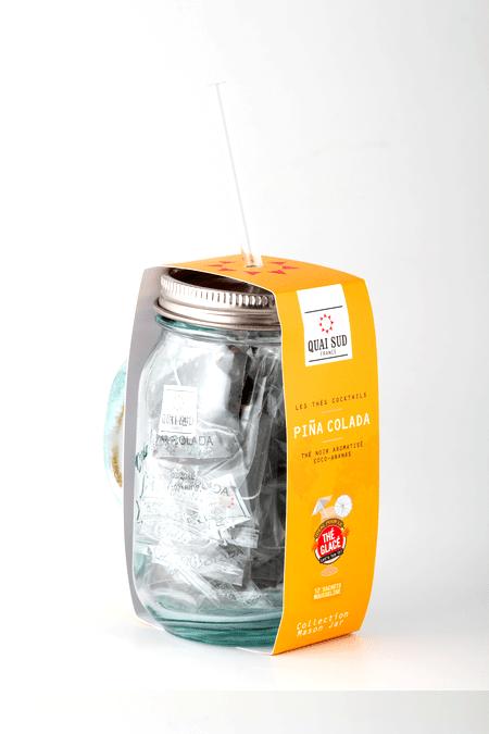 GRÜNER TEE PIÑA COLADA geschmack mason jar-2408
