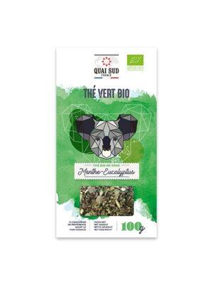 THÉ VERT BIO MENTHE - EUCALYPTUS Boîte Carton 100 g-0