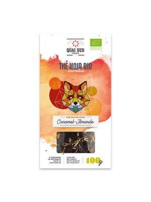 THÉ NOIR BIO AROMATISÉ CARAMEL - AMANDE Boîte Carton 100 g-0