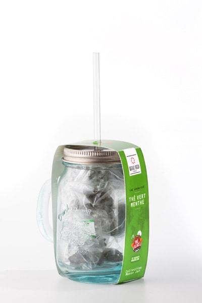 MINT GREEN TEA in mason jar-2394
