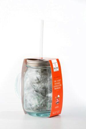 GRÜNER EISTEE BLUTORANGE UND MANGO GESCHMACK mason jar-2391